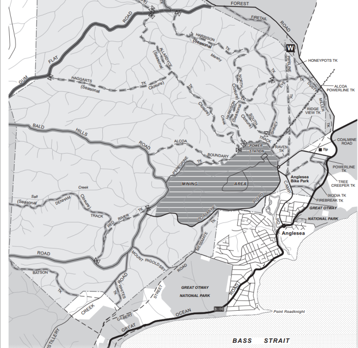 Map of Anglesea Heath (image courtesy Parks Victoria)