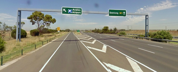 Avalon Airport exit