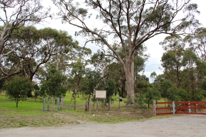 Car park and cemetery sign
