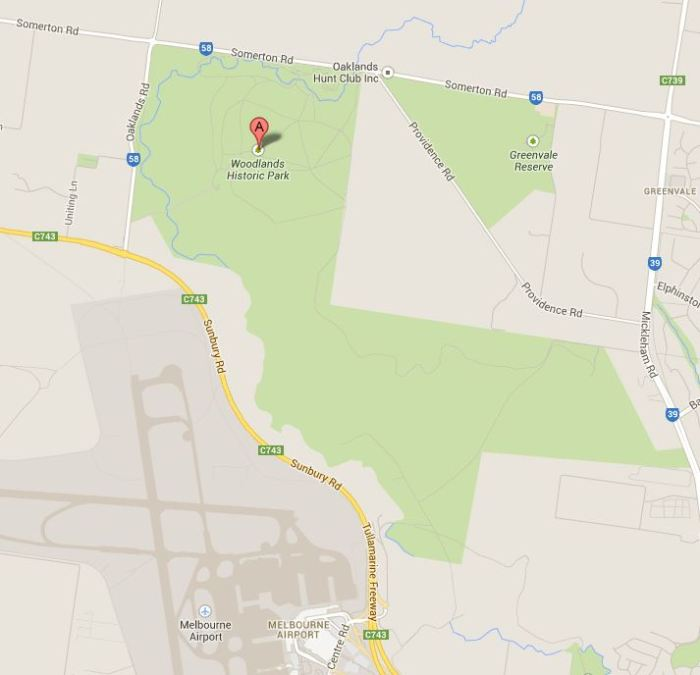 Google Maps image showing the park's proximity to airport