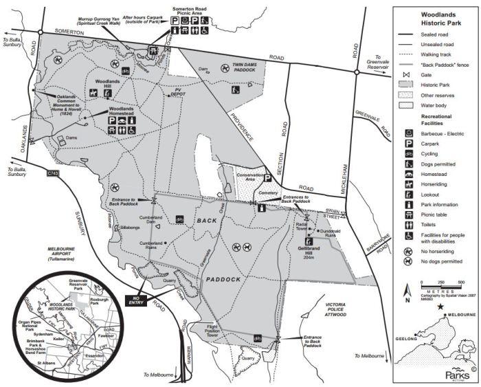 Parks Victoria map of park