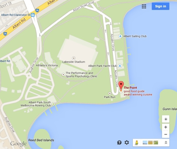 Google Maps image of where to park and how to get there